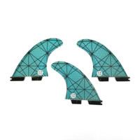FCS2 Fins G5 Light Blue FCS II Tri fin set Fiberglass new design