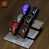 POSSBAY Car Gear Shift Knob Touch Activated LED Gear Shift Knob Blue Red White Changable Gear Stick Knobs Head Gear Cover