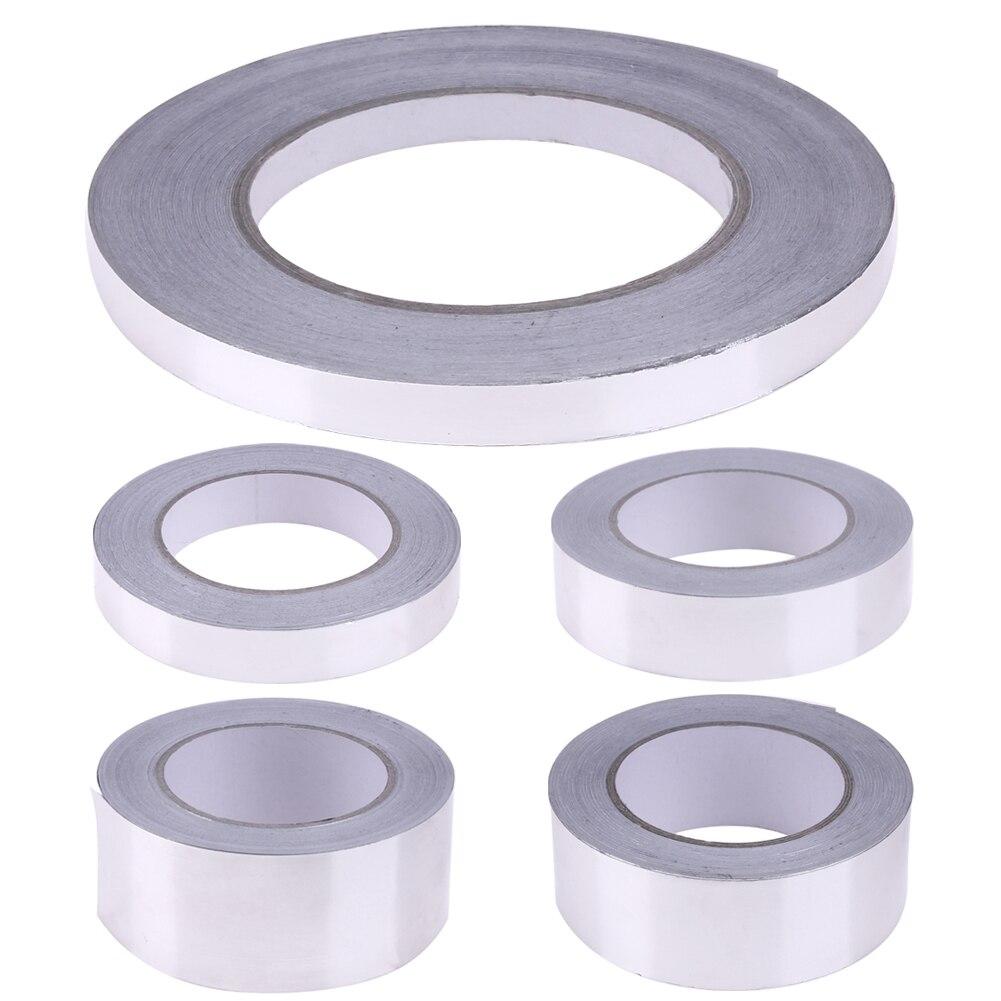 10/20/30/40/50mm Aluminium Foil Adhesive Sealing Tape Heat Resist High Temperature Resistant Foil Single Side Adhesive Tape