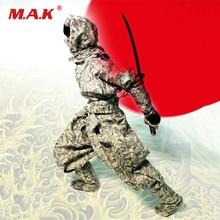 цена на 1/6 Male Figure Clothes Set Japanese Black Samurai Ninja Costume Clothing Sets Black/Camouflage for 12'' Action Figure Body