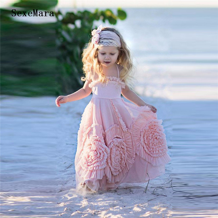 2019 Boho Luxury Little Princess Flower Girls Dresses for Wedding A Line Solid Ankle Length Girls Birthday Party Gown Any Size burnett f a little princess isbn 9781853261367