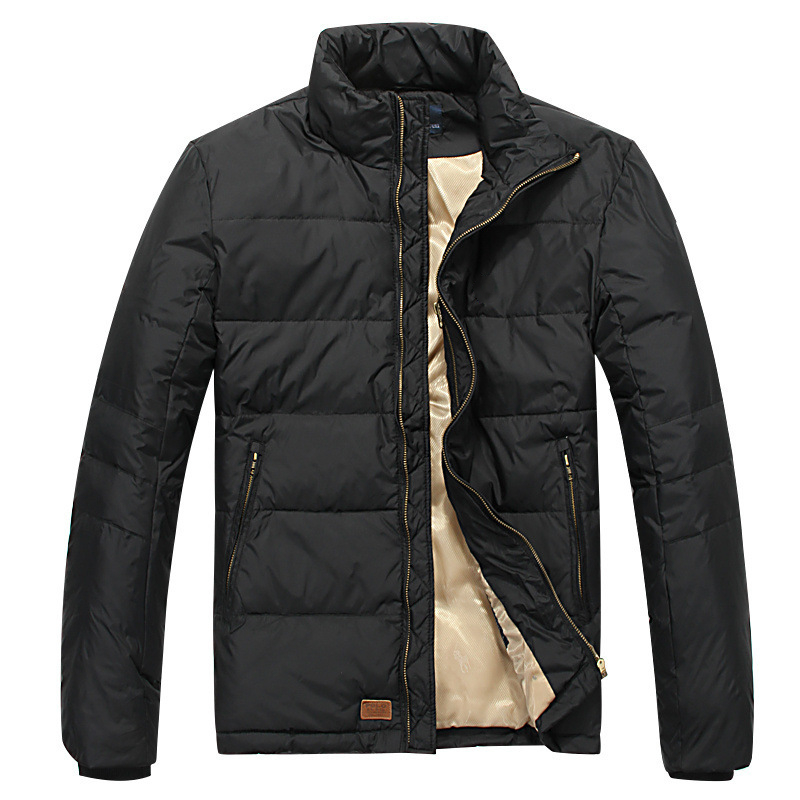 Jacket Men Down-Coat Polos White-Duck-Down Brand-Clothing Warm Winter Padded-Parka High-Quality