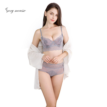 Explosion models French sexy ultra-thin gathering adjustment lace bra set underwear lingerie  transparent