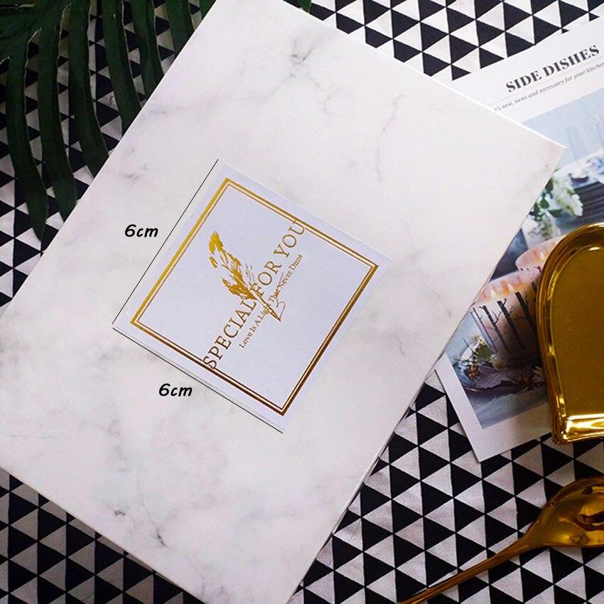 Купить с кэшбэком 60Pcs/lot Square White SPECIAL FOR YOU Handmade Kraft Paper Stickers Label DIY Hand Made For Gift Cake Baking Sealing Sticker