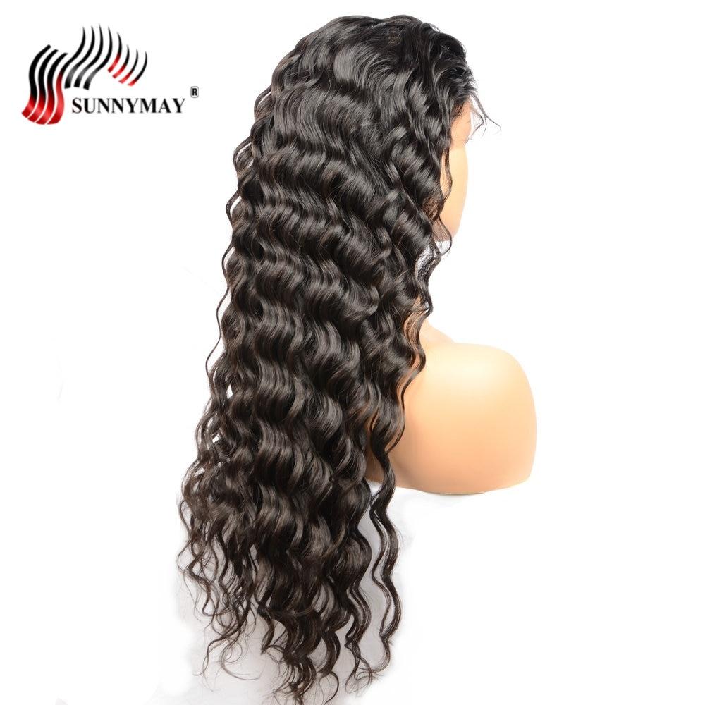Sunnymay Πλήρης Lace Ανδρικά μαλλιά - Ανθρώπινα μαλλιά (για μαύρο) - Φωτογραφία 3