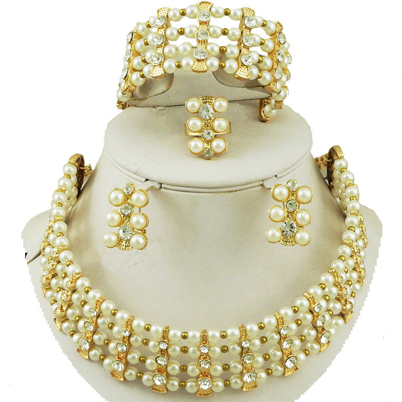 african beads jewelry sets new designs wedding bead jewelry sets women bead necklace party fashion big jewelry bead necklace