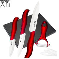 Best Gift Suit ABS TPR Handle Ceramic Knife 5 Piece Set XYj Brand 3 4 5