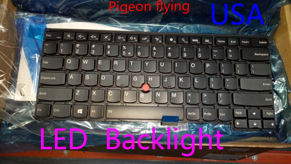 for Original Brand new Thinkpad <font><b>T460</b></font> L460 <font><b>keyboard</b></font> USA LED Backlight FRU 04X0131 04X0169 00HW867 01AX340 image