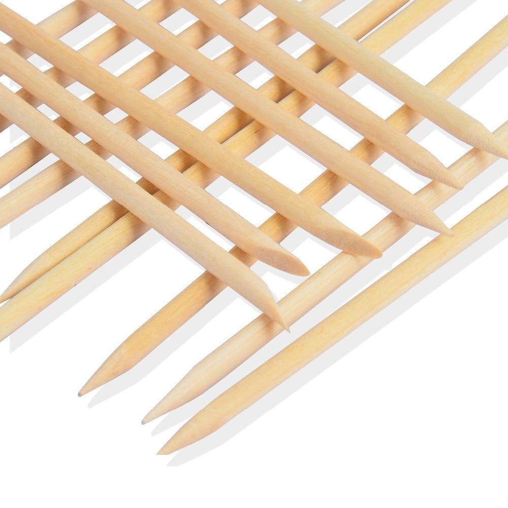 10 Pcs/Set Nail Art Design Cuticle Pusher Orange Wood Stick Sticks Cuticle Pusher Remover Manicure Pedicure Care