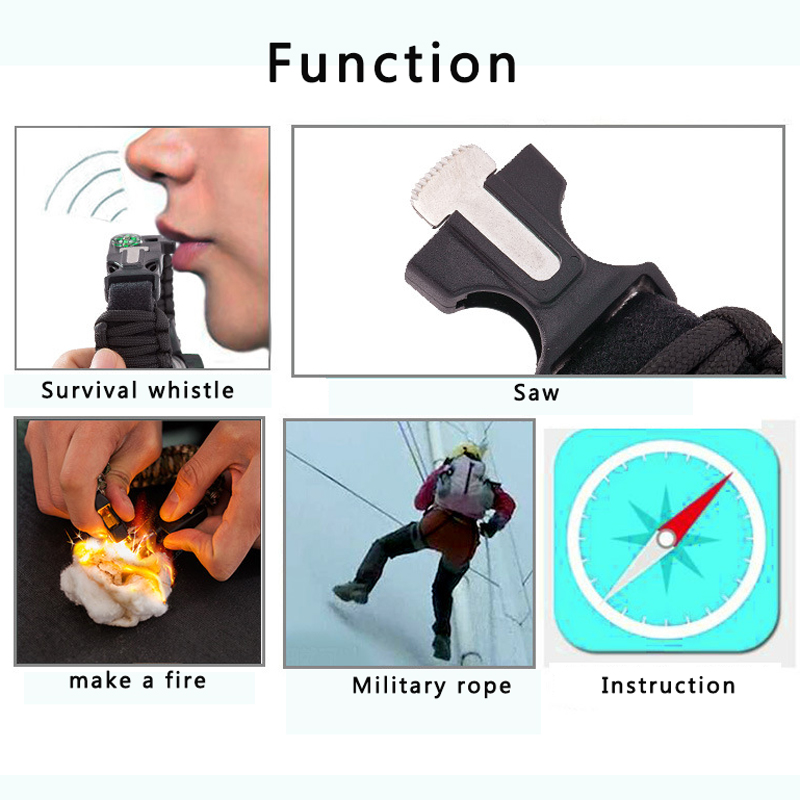 Survive Outdoor Sport Watches Men Emergency with Night Vision Men Digital Watches Compass Whistles Sports Wrist Watch Mens 2019 (1)