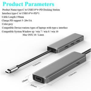 Image 5 - USB משולב סוג c עגינה תחנת USB C רכזת USB 3.0 RJ45 VGA מתאם עבור MacBook Samsung Galaxy S8 s9 HUAWEI Matebook