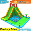Giant residential home use waterslide inflatable water park with blower swimming pool for kids