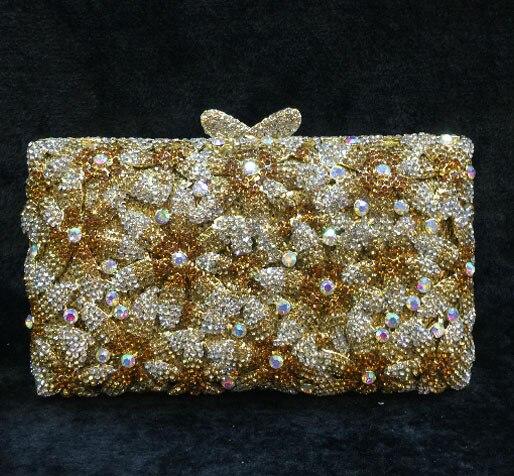 blue diamante banquet bag pendant pattern crystal evening bags Diamonds women party purse wedding bridal clutch bag cross body