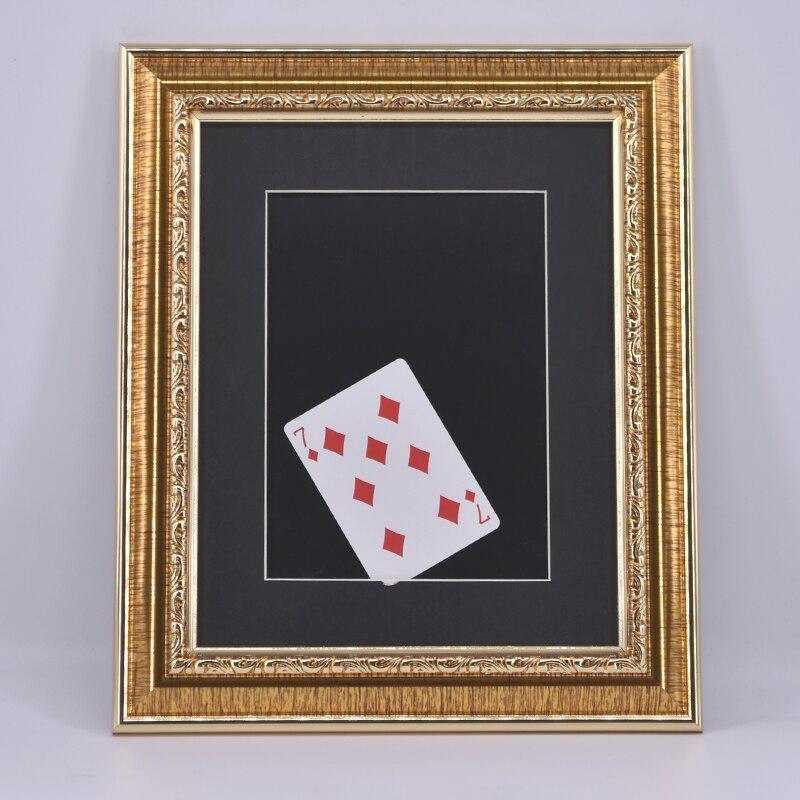 Foudre Carte Dans Le Cadre Photo Magique Astuces Scène Incroyable Magie Illusion Accessoires Gimmick Prop Pour Magicien Professionnel