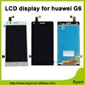 Preto de alta qualidade substituição branco lcd screen display toque digitador assembléia para huawei ascend g6