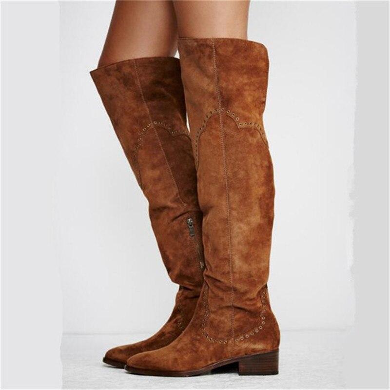 Online Get Cheap Thigh High Flat Boots Size 11 -Aliexpress.com ...