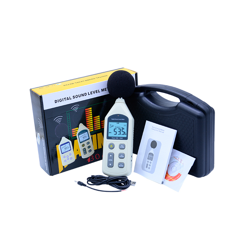 Digital display  Sound Level Meter USB GM1356 Noise Tester meter with noise value  30-130dB A/C FAST/SLOW dB with box with carry box benetech gm1357 30 130db digital sound level meter noise tester in decibels lcd a c fast slow db screen