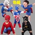 2016 Nuevo Hombre Araña Niños Que Arropan Los Muchachos Spiderman Cosplay Traje de Deporte Para Niños Establece jacket + pants 2 unids. Ropa de los muchachos