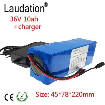 Laudation 36 V 10Ah batería para bicicleta eléctrica 21700 10 S 2 P 500 W motor o motocicleta Scooter con 15A BMS alta potencia