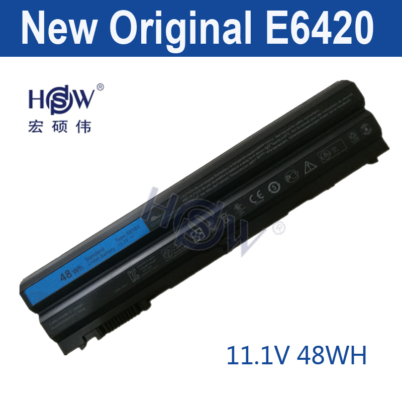 HSW 11.1v 48WH  battery For DeLL Latitude E5420 E5430 E5520 E5530 E6120 E6420 E6430 E6520 E6530 Vostro 3460 Vostro 3560 11 1v 97wh korea cell new m5y0x laptop battery for dell latitude e6420 e6520 e5420 e5520 e6430 71r31 nhxvw t54fj 9cell