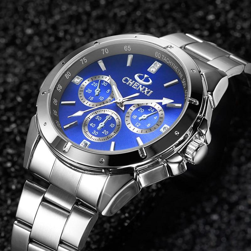 CHENXI uhren hombre 2017 UHR MANN Wasserdicht Quarzwerk Beiläufige uhr männer Edelstahl Armband uhren hodinky 47