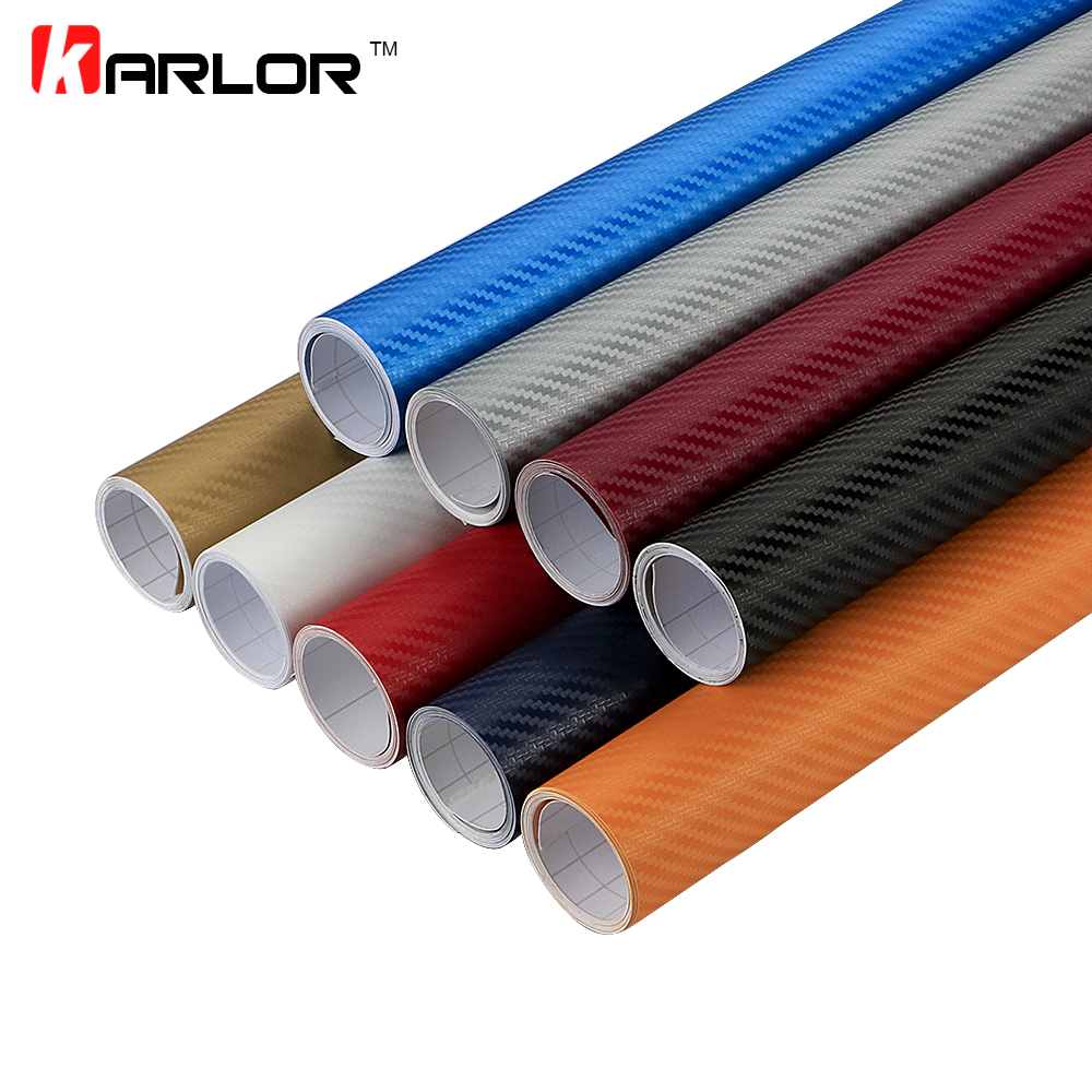 30x152cm 3D Carbon Fiber Vinyl Film 3M Car Stickers Decal Waterproof DIY Motorcycle Car Styling Wrap Accessories Bubble Air Free 30cmx100cm car styling matt brushed car wrap vinyl film sheet bubble free air release motorcycle automobiles car stickers decal