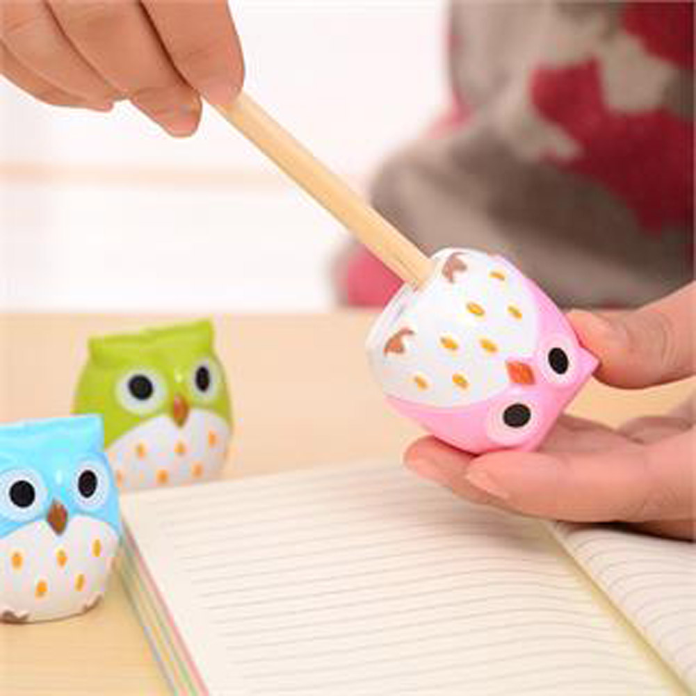 Owl sharpener cutter blades promotional Pencil sharpener with two holes Gift Stationery Office School Supplies Color random