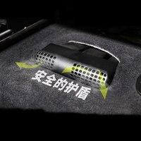Preto abs assento tomada de ar condicionado tampas protetoras 2 peças para bmw 3 série 4 3gt f30 f31 f32 f34 f36 316i 320 acessórios|Adesivos para carro|Automóveis e motos -
