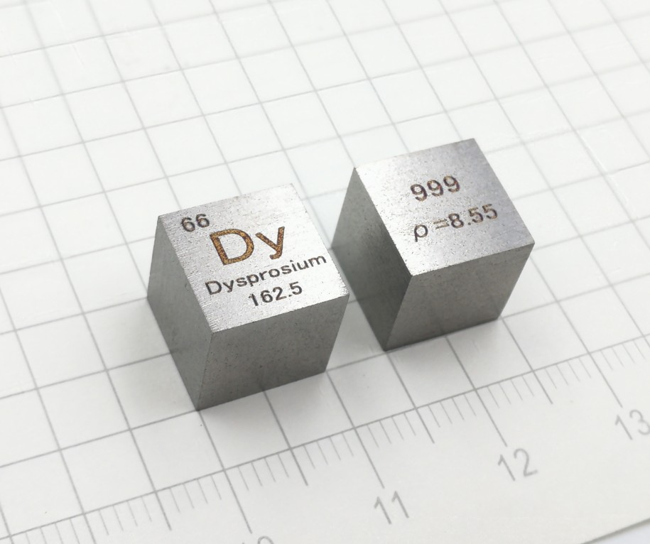 Dysprosium Rare Earth Periodic Phenotypic Cubes Weigh 8.6 G Dy (> 99.9%) on Average at 10 Mm.Dysprosium Rare Earth Periodic Phenotypic Cubes Weigh 8.6 G Dy (> 99.9%) on Average at 10 Mm.