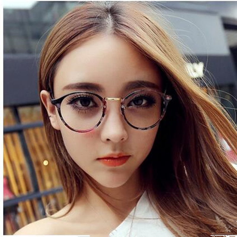 Cute Style Vintage Glasses Women Glasses Frame Round