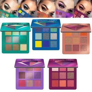 Image 1 - 9 renk göz farı paleti pırıltılı mat hediye göz farı kozmetik Glitter mat göz farı kalıcı çıplak pırıltılı makyaj göz