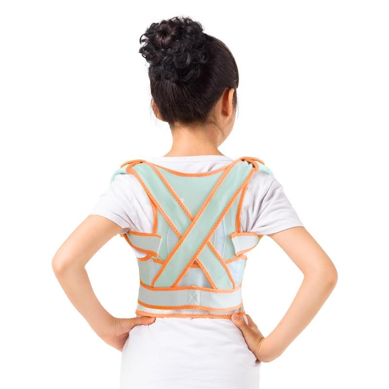 HighQuality Children back correction Belt Posture Corrector Magnetic Back Support Tourmaline Lumbar Belt Brace for Student Adult  back posture correction belt for children beige