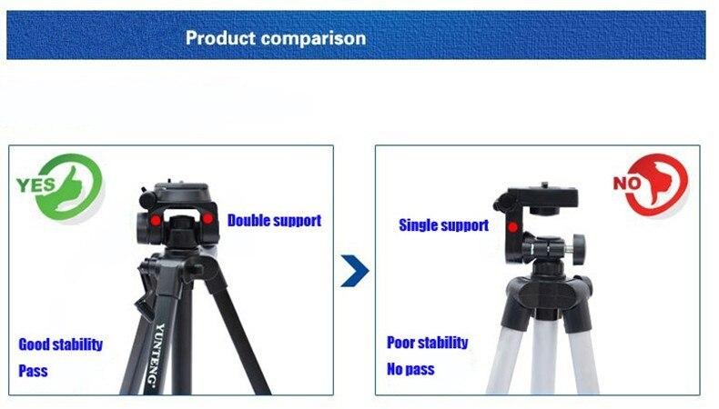 Штатив для камеры профессиональный штатив YUNTENG VCT-668 Штатив для SLR камеры с сумкой штатив