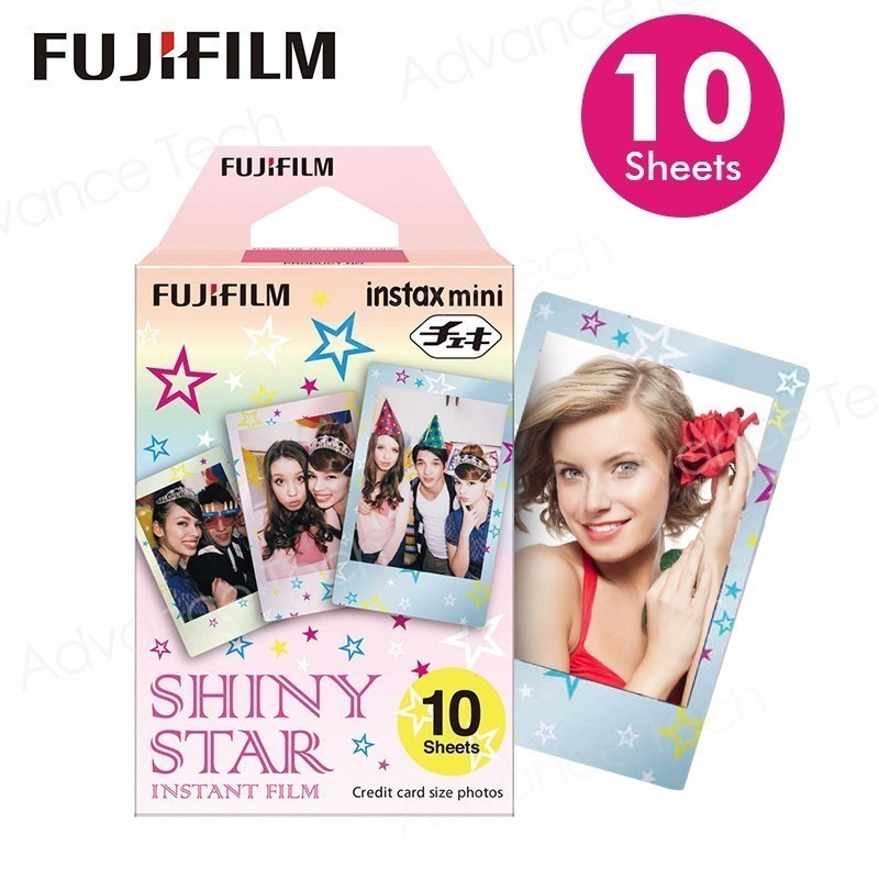 2017 NEW Original Fujifilm Fuji Instax Mini Shiny Star Prints Film 10 Sheets For 8 50s 7s 90 25 Share SP-1 Instant Cameras