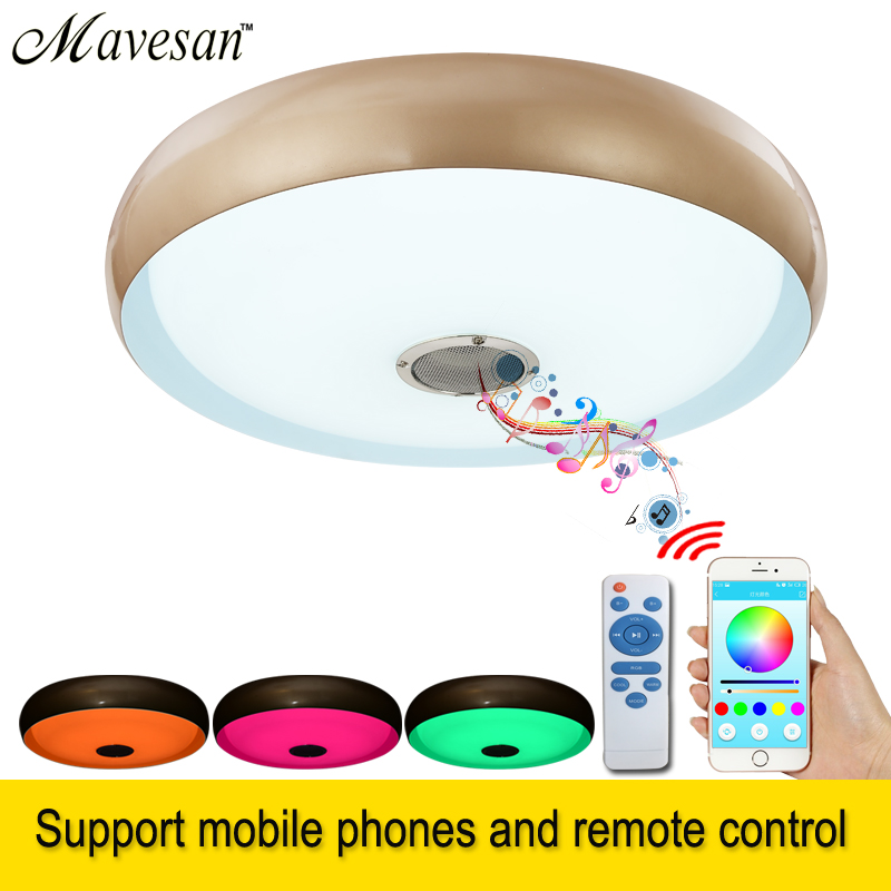Bluetooth Led ceiling Lamp light for bedroom with brightness & RGB dimming  modern LED lampara techo for 10 -15 Square meters lan mu led ceiling lamp octopus light