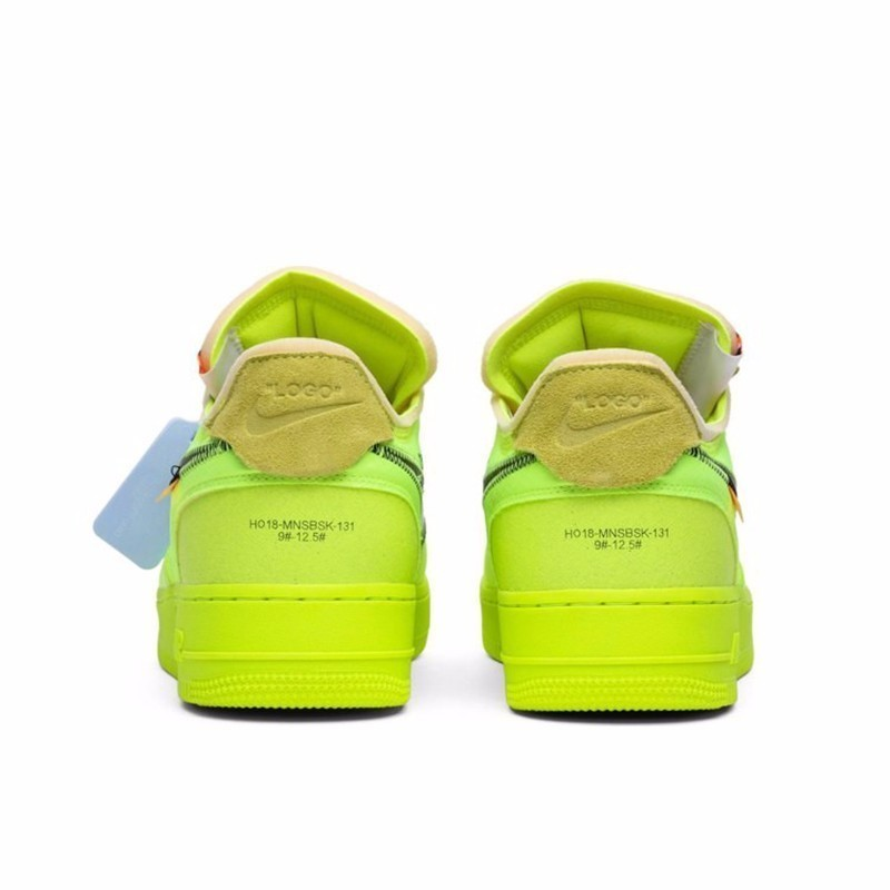 Nike Air Force 1 OFF WHITE OW  Men Skateboarding Shoes New Arrival Fluorescence Green Comfortable Breathable SneakersAO4606 700