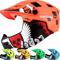 Kids Full Face Bicycle Helmet Mountain/Road Cycling Helmet Detachable Chin Guard Skateboard/Roller Skate Balance Bike Safety Cap|Bicycle Helmet|Sports & Entertainment -