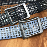 Rivet Metal Belts For Women Ceinture Femme Leather Belt Men Stud Jeans White Men Belt Cinturon Hombre Ceinture Strap MBT0573