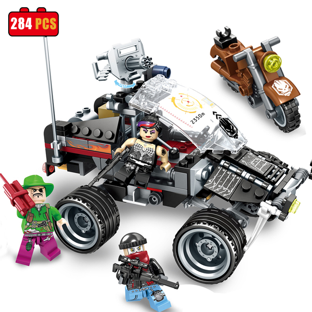 Sembo Black Gold building blocks compatible legoed figures city ...