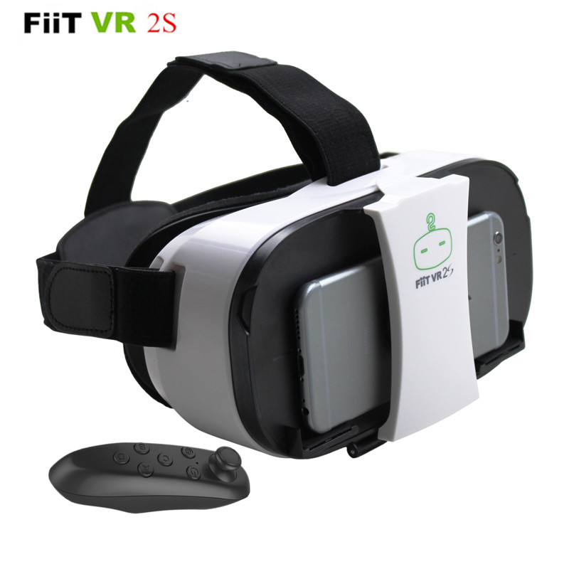 FiiT VR 2S Head Mount 3 D Cardboard Virtual Reality Goggles VR Headset Glasses Phone 3D Video Game Private Theater+Controller vr goggle foldable virtual reality 3d glasses cardboard