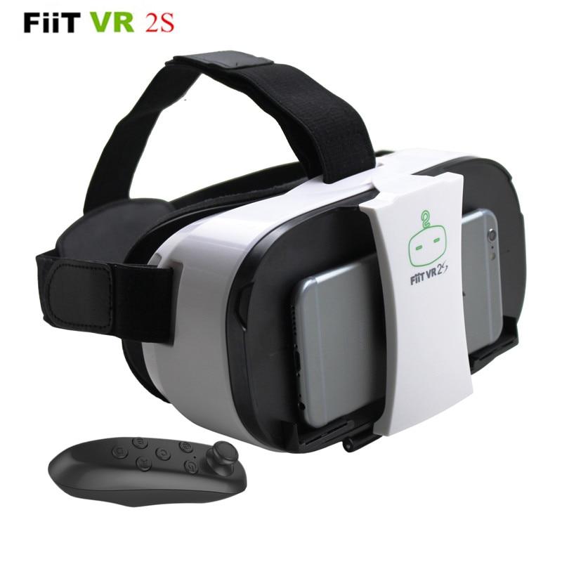 FiiT VR 2S Head Mount 3 D Cardboard <font><b>Virtual</b></font> <font><b>Reality</b></font> Goggles VR <font><b>Headset</b></font> <font><b>Glasses</b></font> <font><b>Phone</b></font> 3D Video Game Private Theater+Controller