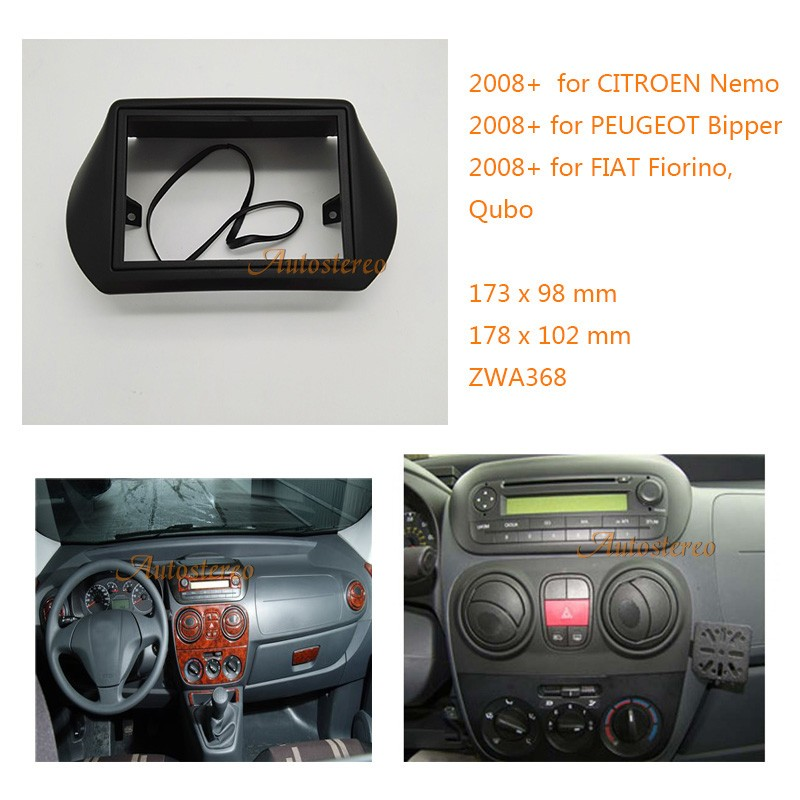 Two din Car Radio fascia for FIAT Fiorino Qubo 2008+ for CITROEN Nemo 2008+ for PEUGEOT zw11-368 408239821001 brand new throttle body 9640796280 408 239 821 001 egast02 for fiat fiorino qubo