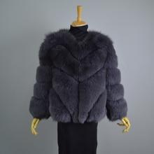 FRUSARCAR New 2017 REAL Fox Fur Coats For Women Fashion Winter Genuine Fox Fur Female Jacket Full Sleeve Short Women Coat C64