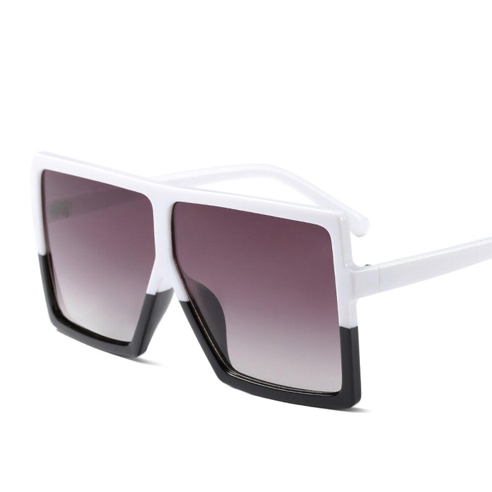 17061320fea656 Kiekeboe goedkope oversized zonnebril vrouwen vierkante platte top wit zwart  grote dames zonnebril vrouwelijke 2018 uv400 in Kiekeboe goedkope oversized  ...