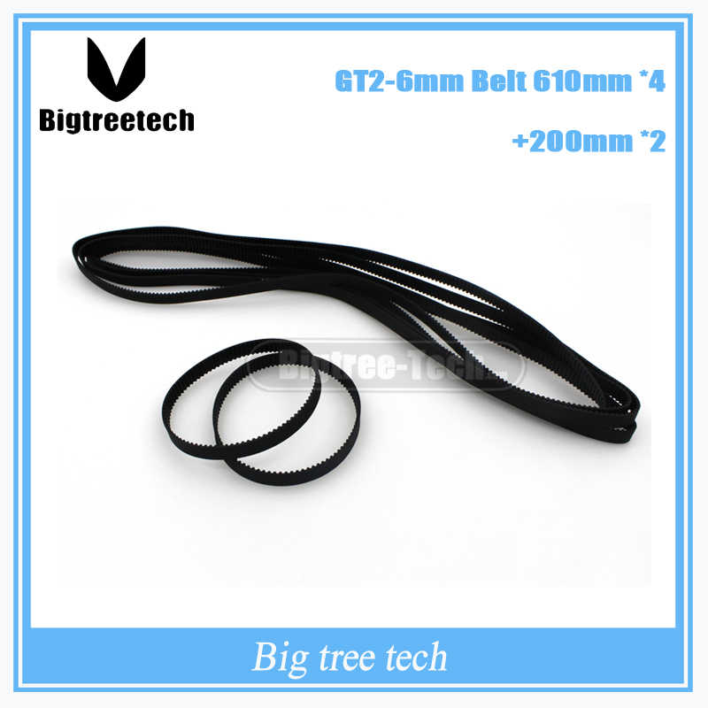 4pcs GT2 Timing Belt 2GT-610-6.5 Length 610mm Width 6.5mm Teeth 305 for 3D Printer Closed-Loop Rubber Belt for Ultimaker Slider 3D Printing Accessories