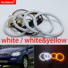 for SsangYong Kyron 2007 2008 2009 2010 White yellow Cotton LED Angel eyes kit halo ring