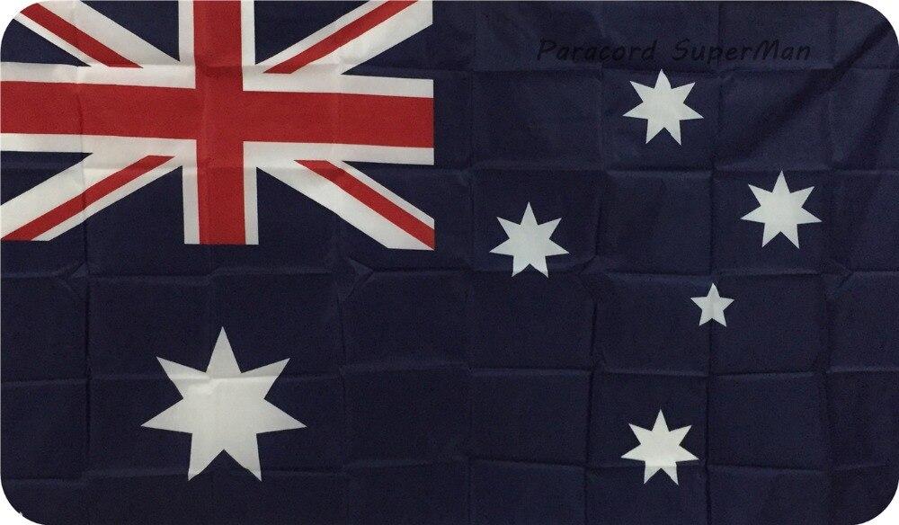 Avstraliya bayrağı Banner 3ft x 5ft Asma Bayraq Polyester - Komanda idman növləri - Fotoqrafiya 2
