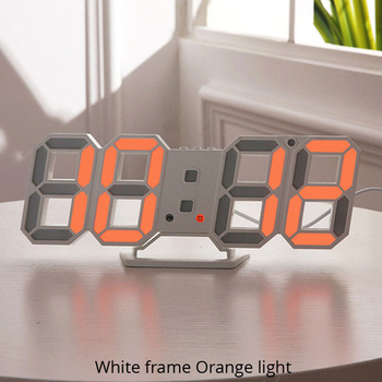 3D LED Wall Clock Modern Design Digital Table Clock Alarm Nightlight Saat reloj de pared Watch For Home Living Room Decoration 8