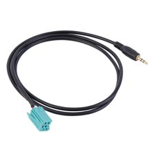 New Arrived 3.5mm Jack Aux Input Adapter Audio Cable For Renault Clio Megane 2005-2012(China)