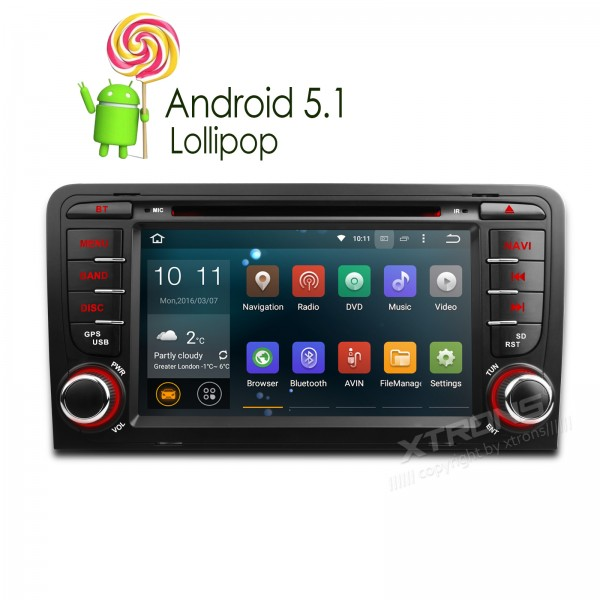 XTRONS 7 inch 2din Android 5 1 Quad Core 1080P Video CANbus Navigator font b Car